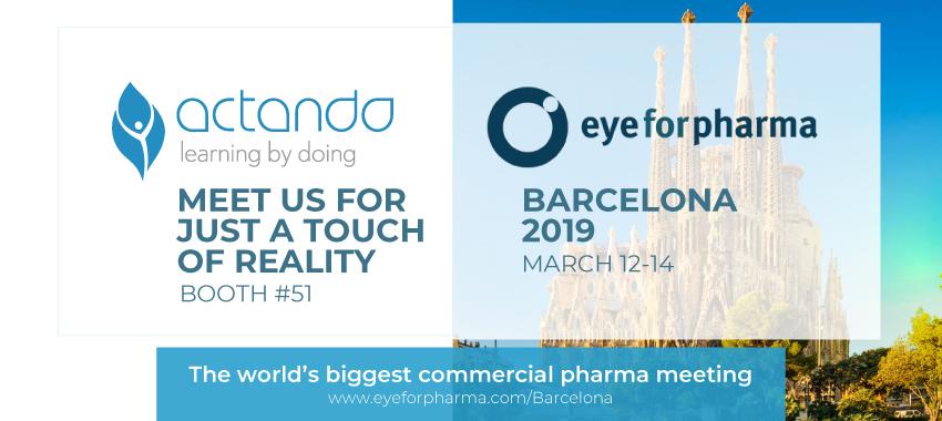 Actando at eyeforpharma Barcelona 2019